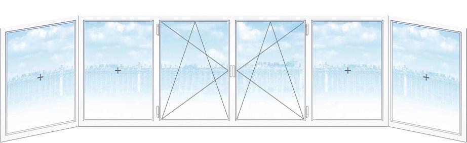 Установка металлопластиковых окон остекление балкон Киев