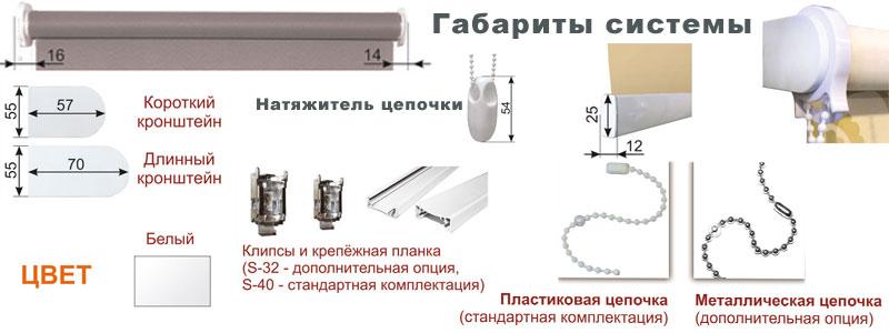 Система S-40. Солнцезащитная система открытого типа