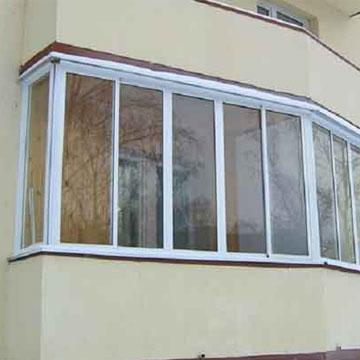 Заказать окна остекление лоджий балконов в Киеве